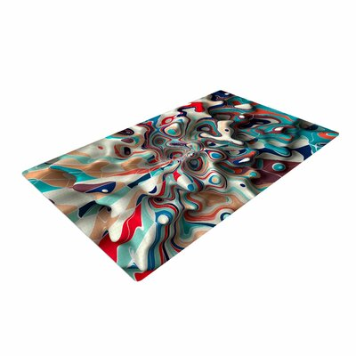 Danny Ivan Weird Surface Blue/Red Area Rug
