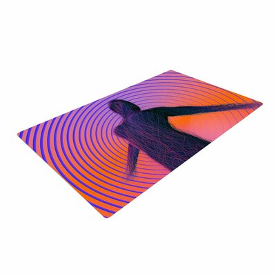 Danny Ivan Human Soul Purple/Orange Area Rug