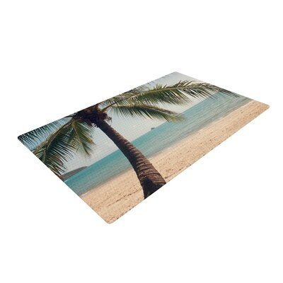 Catherine McDonald Tropic of Capricorn Photography Ocean Blue/Beige Area Rug Rug Size: 4 x 6