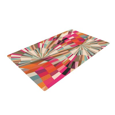 Danny Ivan Convoke Geometric Pink/Beige Area Rug Rug Size: 4 x 6