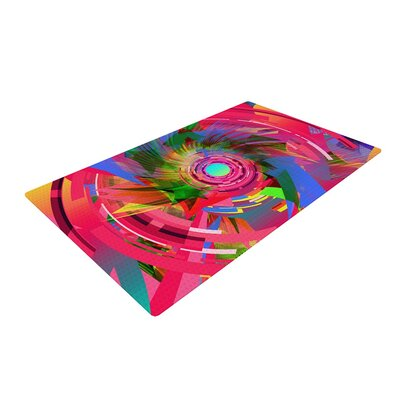 Danny Ivan Fun Hole Pink Area Rug Rug Size: 4 x 6