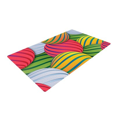Danny Ivan Melons Pink/Green Area Rug Rug Size: 4 x 6