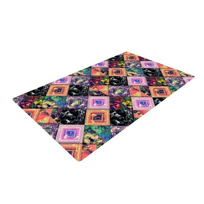 Danny Ivan Never Run Away Geometric Pink/Black Area Rug Rug Size: 4 x 6