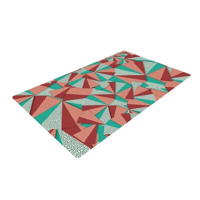 Danny Ivan Marsala Pattern Teal/Red Area Rug Rug Size: 2 x 3