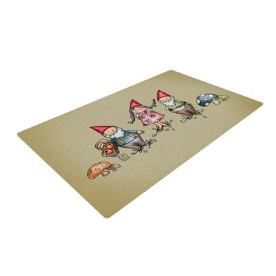 Carina Povarchik Gnomes Brown Area Rug Rug Size: 4 x 6