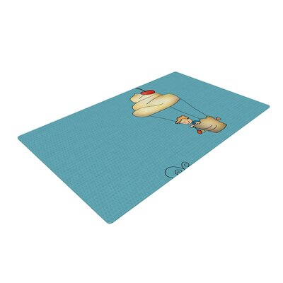 Carina Povarchik Sweet World Blue Area Rug Rug Size: 2 x 3