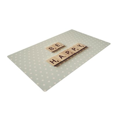Cristina Mitchell Be Happy Blue/Brown Area Rug