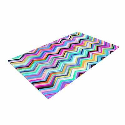 Dawid Roc Colorful Rainbow Chevron Red/Blue Area Rug Rug Size: 4 x 6