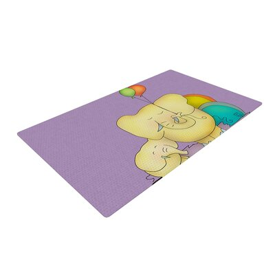 Carina Povarchik Party Time Purple/Yellow Area Rug Rug Size: 4 x 6