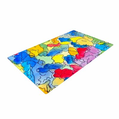 Cathy Rodgers Explorer Blue/Yellow Area Rug