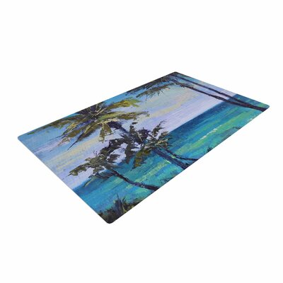 Carol Schiff Room With a View Blue/Teal Area Rug Rug Size: 2 x 3