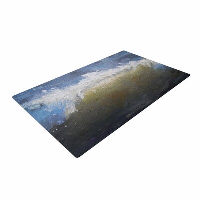 Carol Schiff the Curl Painting Blue/Brown Area Rug