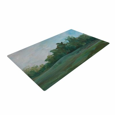 Cyndi Steen Stand of Trees Green/Blue Area Rug