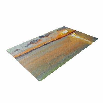 Carol Schiff Reflections Green/Orange Area Rug