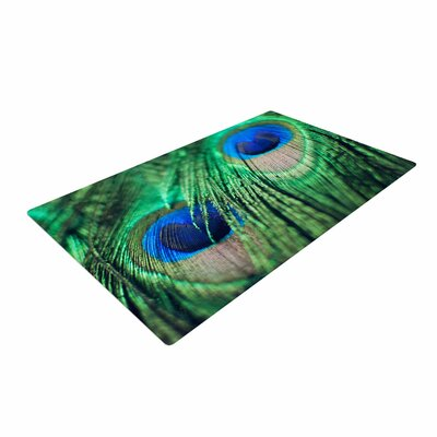 Chelsea Victoria Peacock Feathers Blue/Green Area Rug