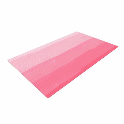 Chelsea Victoria Pink Ombre Layer Cake Stripes Pink Area Rug