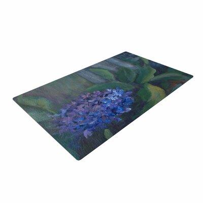 Cyndi Steen Hydrangea Floral Green Area Rug Rug Size: 4 x 6