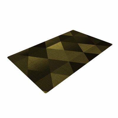 Cvetelina Todorova Golden Triangles Black/Yellow Area Rug