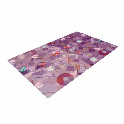 Cvetelina Todorova Purple Mess Purple/Abstract Area Rug