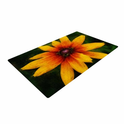 Ginkelmier Wildflower in Sun Photography Yellow Area Rug