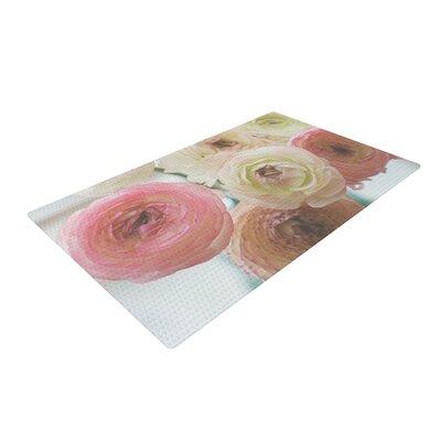Debbra Obertanec Pastel Ranunculus Pink/White Area Rug Rug Size: 2 x 3