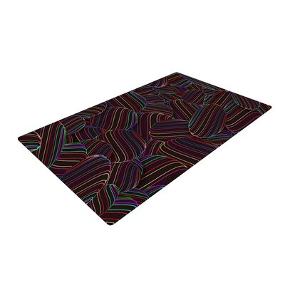 Danny Ivan Sphering Rainbow Black Area Rug Rug Size: 4 x 6