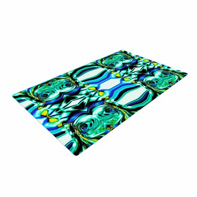 Dawid Roc Inspired By Psychedelic Art 5 Abstract Blue Area Rug Rug Size: 2 x 3