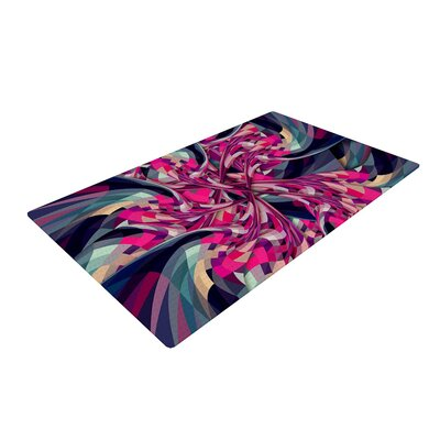 Danny Ivan Purple Spiral Geometric Pink Area Rug Rug Size: 2 x 3