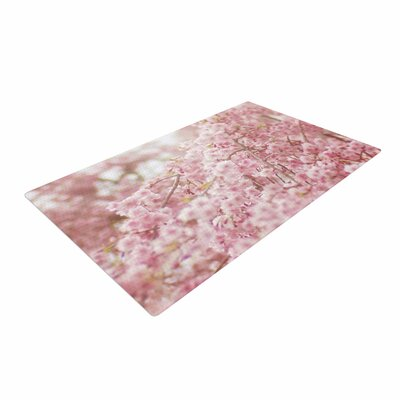 Debbra Obertanec Spring Pinks Floral Digital Pink Area Rug