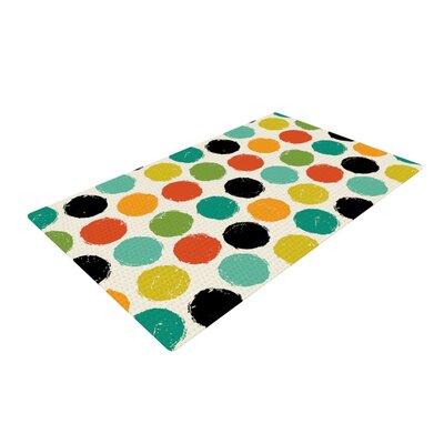 Daisy Beatrice Retro Dots Repeat Multicolor Area Rug