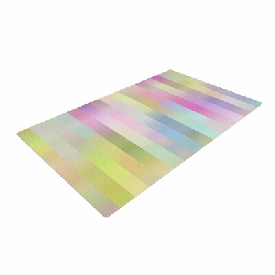 Dawid Roc Sweet Pastel Lines 1 Green/Pink Area Rug Rug Size: 4 x 6