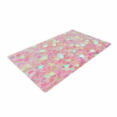 Debbra Obertanec Hearts Galore Love Pink Area Rug Rug Size: 4 x 6