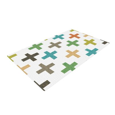 Daisy Beatrice Hipster Crosses Multicolor Area Rug