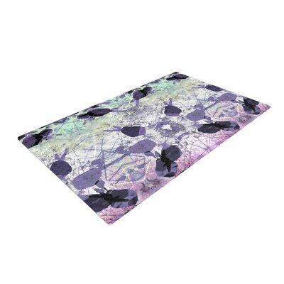 Danii Pollehn Geometrical Jumper Geometric Purple Area Rug Rug Size: 4' x 6'