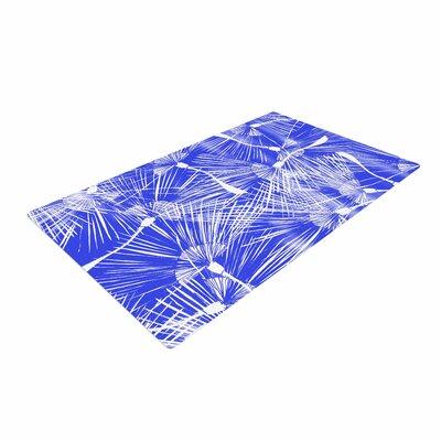 Danii Pollehn Palmtree Chinoiserie Blue/White Area Rug Rug Size: 4' x 6'