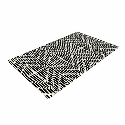 DLKG Design Tribal Drawings Chevron/Black Area Rug