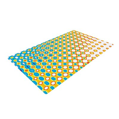 Dawid Roc Psychedelic Art Yellow/Blue Area Rug Rug Size: 4 x 6