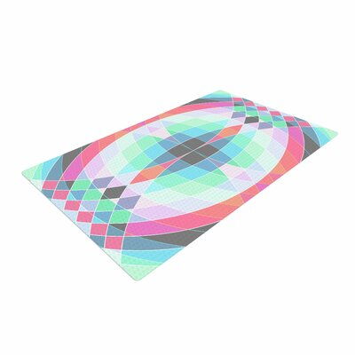 Fimbis Jazar Abstract Geometric Blue/Pink Area Rug Rug Size: 4 x 6