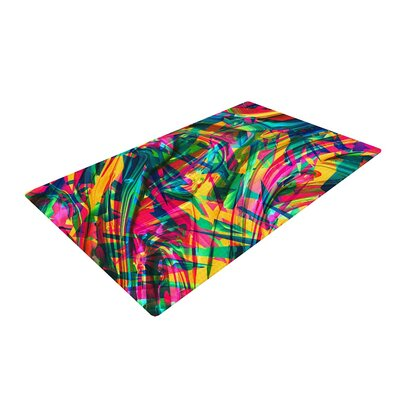 Danny Ivan Wild Abstract Illustration Rainbow Area Rug Rug Size: 4 x 6