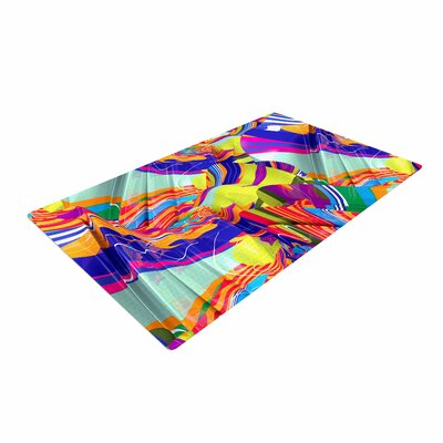 Danny Ivan To Swim Abstract Blue Area Rug