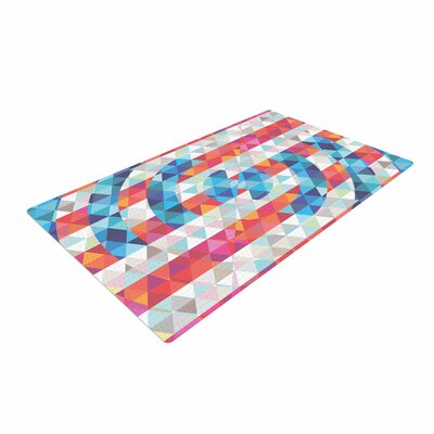 Fimbis Abstract America Digital Blue Area Rug Rug Size: 4 x 6