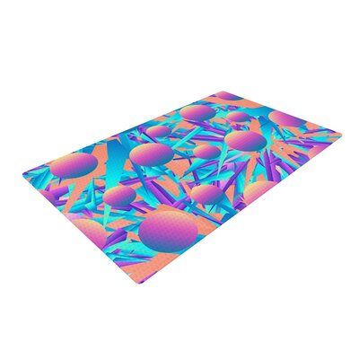 Danny Ivan Blind Face Pink/Blue Area Rug Rug Size: 2 x 3