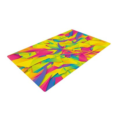 Danny Ivan Bubble Gum Explosion Pink/Yellow Area Rug