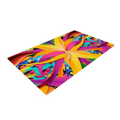 Danny Ivan Tropical Fun Yellow/Pink Area Rug Rug Size: 4 x 6