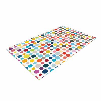 Fimbis Tangled Up In Colour Red/Blue Area Rug Rug Size: 2 x 3
