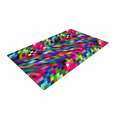 Dawid Roc Colorful Geometric Movement 1 Abstract Multicolor Area Rug