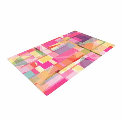 Fimbis Paku Geometric Pink Area Rug Rug Size: 2 x 3