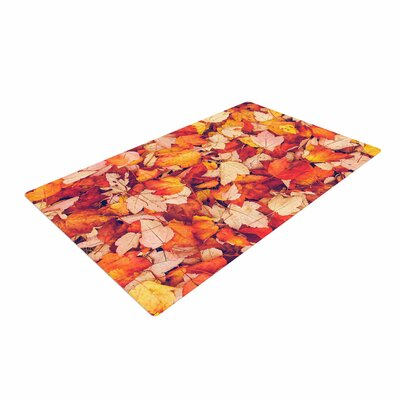 Debbra Obertanec Scarlet Red Crimson Yellow Area Rug
