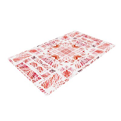 Danii Pollehn Scandanavian Square Pink Red Area Rug