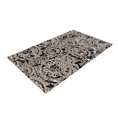 Akwaflorell Snowflakes Geometric Brown Area Rug Rug Size: 4 x 6